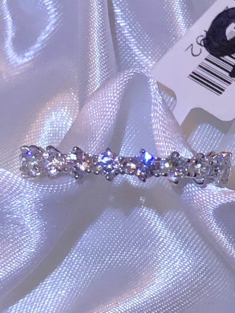 SWAROVSKI ZIRCONIA 3.75 Ct. Platinum Overlay Sterling Silver 925 Band Ring Size J R S T U V   NEW