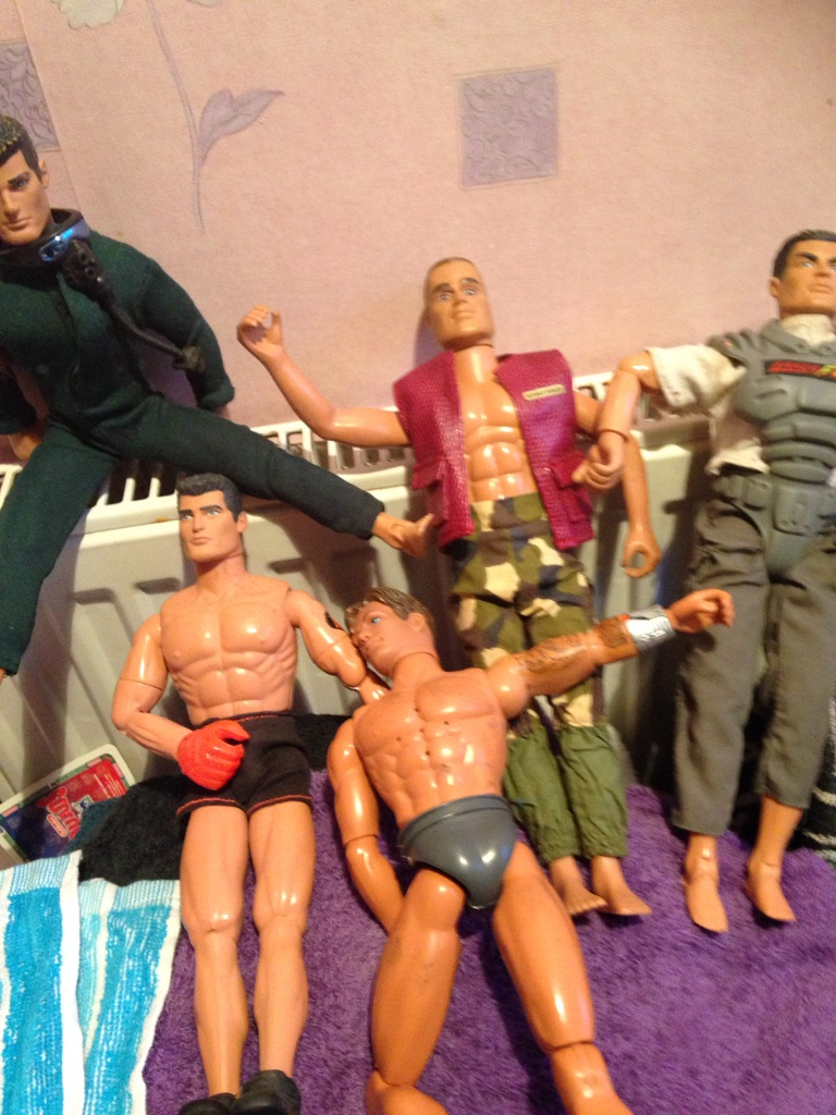 Action men brought years ago bout 15 years old done and more £5/3