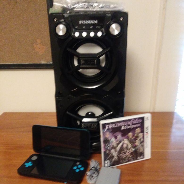 Bluetooth speaker, led light, long lasting  battery, HI-FI speaker with Nintendo DS XL, fire emblem Fates comqouest