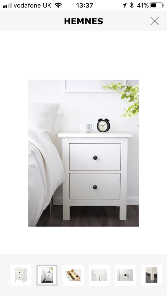 Hemnes bedside draws/tables