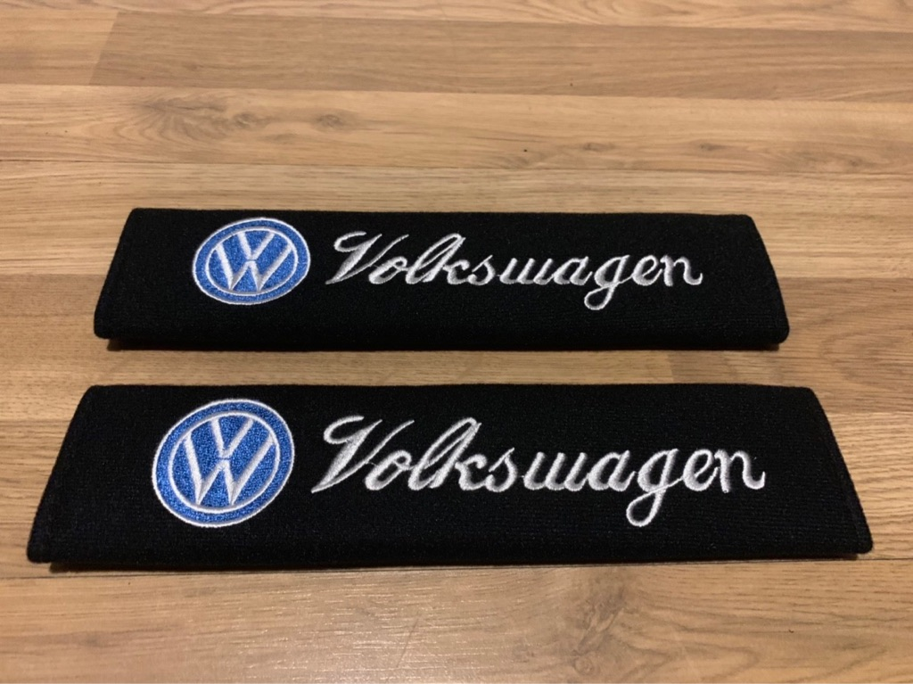 2X Seat Belt Pads Gift VW Volkswagen Golf R Polo Tiguan Touran CC Sharan EOS
