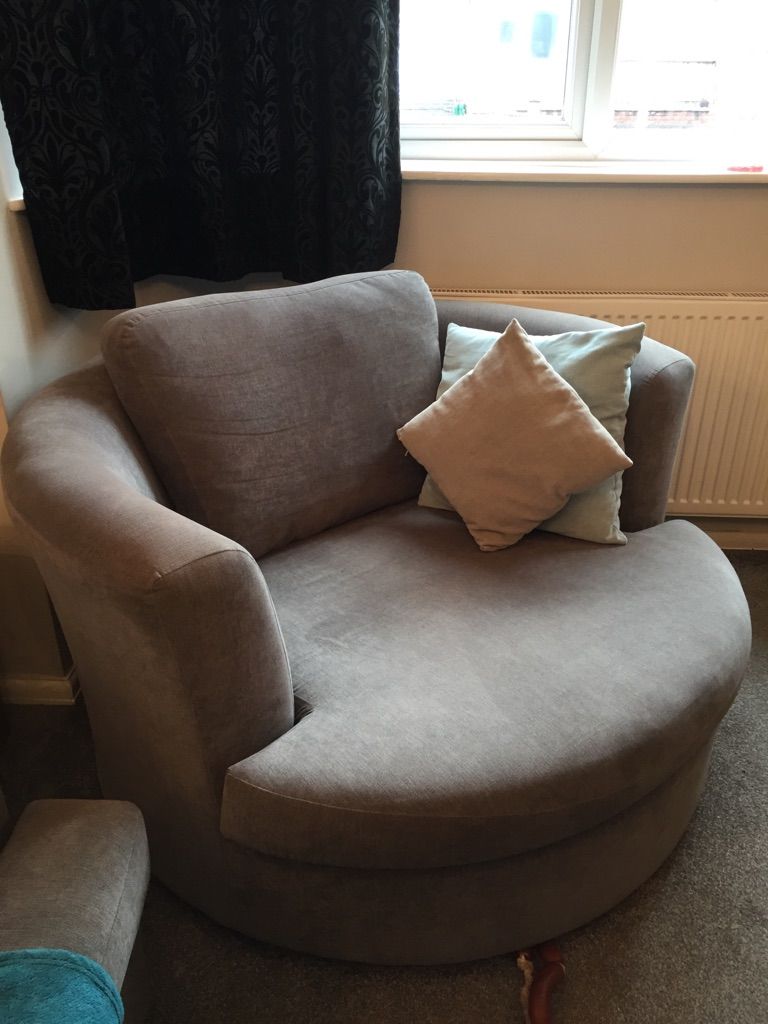 Sofa and swivel chair