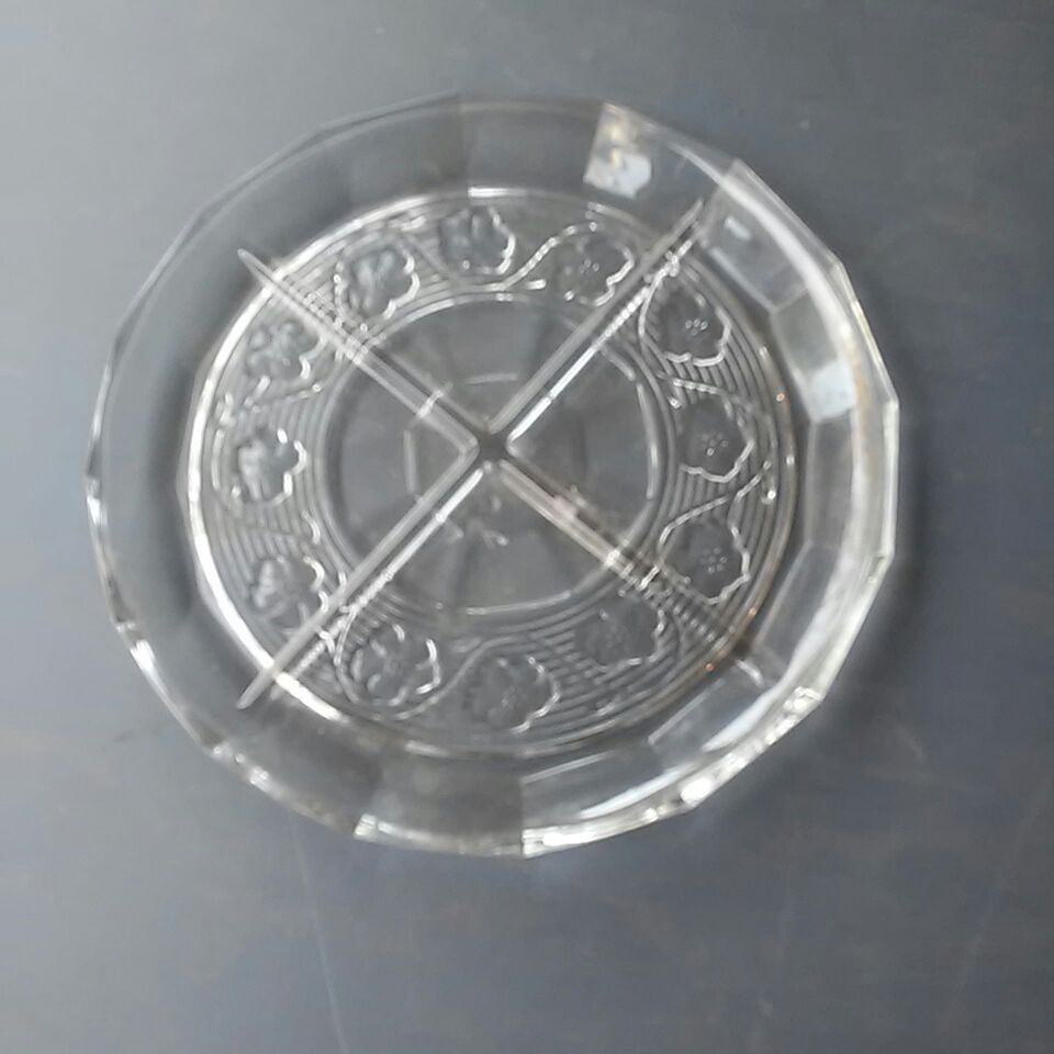Crystal pie plate