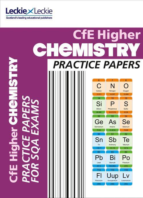CfE Higher Chemistry Practice Papers.
