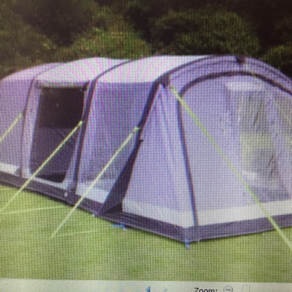 4 BERTH AIR TENT, WITH CARPET & FOOTPRINT (NEVER USED) AND LOTS OF CAMPING GEAR (NEVER USED). KAMPA HAYLING 4 AIR PRO WITH VESTIBULE. REAL BARGAIN