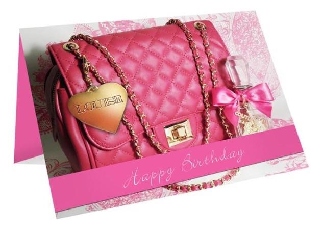 Personalised 'handbag' greeting card