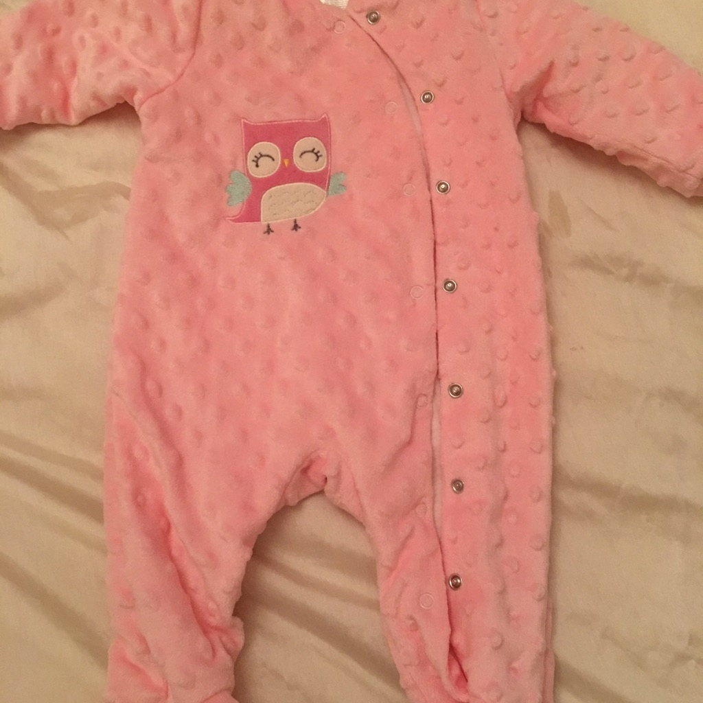Girls soft baby grow/ suit age 0-3 month