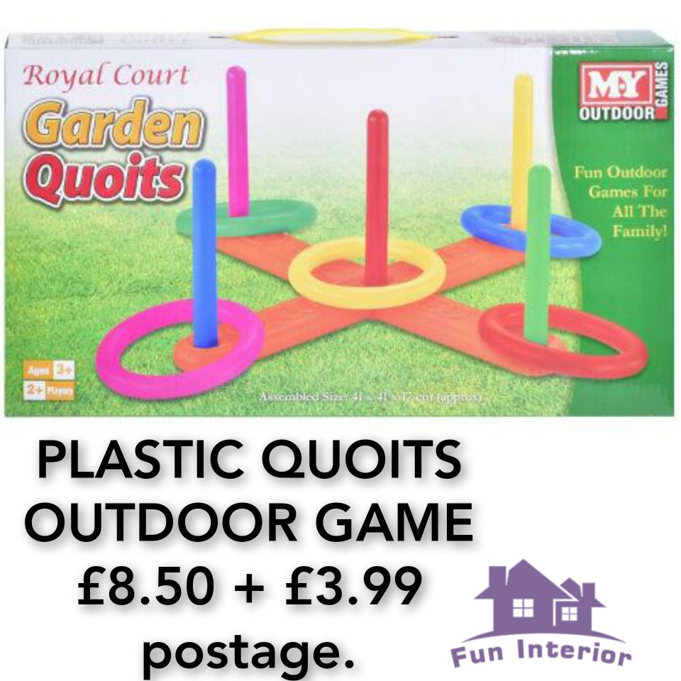 PLASTIC QUOITS OUTDOOR GAME