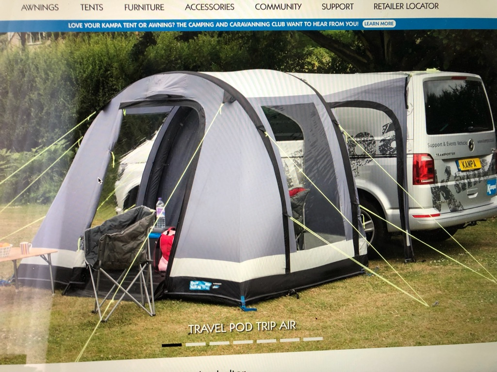 Kampa Travel Pod Trip Air Awning with Magnetic Drive Away Strip for Campervan