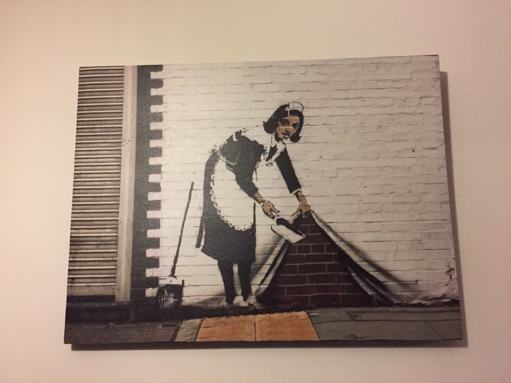 Canvas artwork - Banksy and Audrey Hepburn