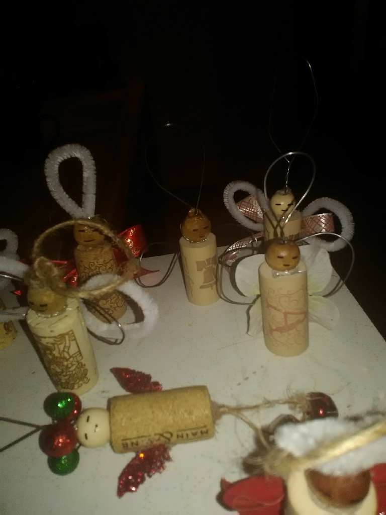Angel cork ornaments