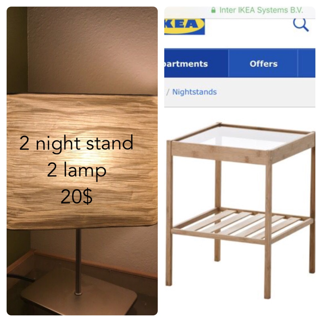Night stand with light