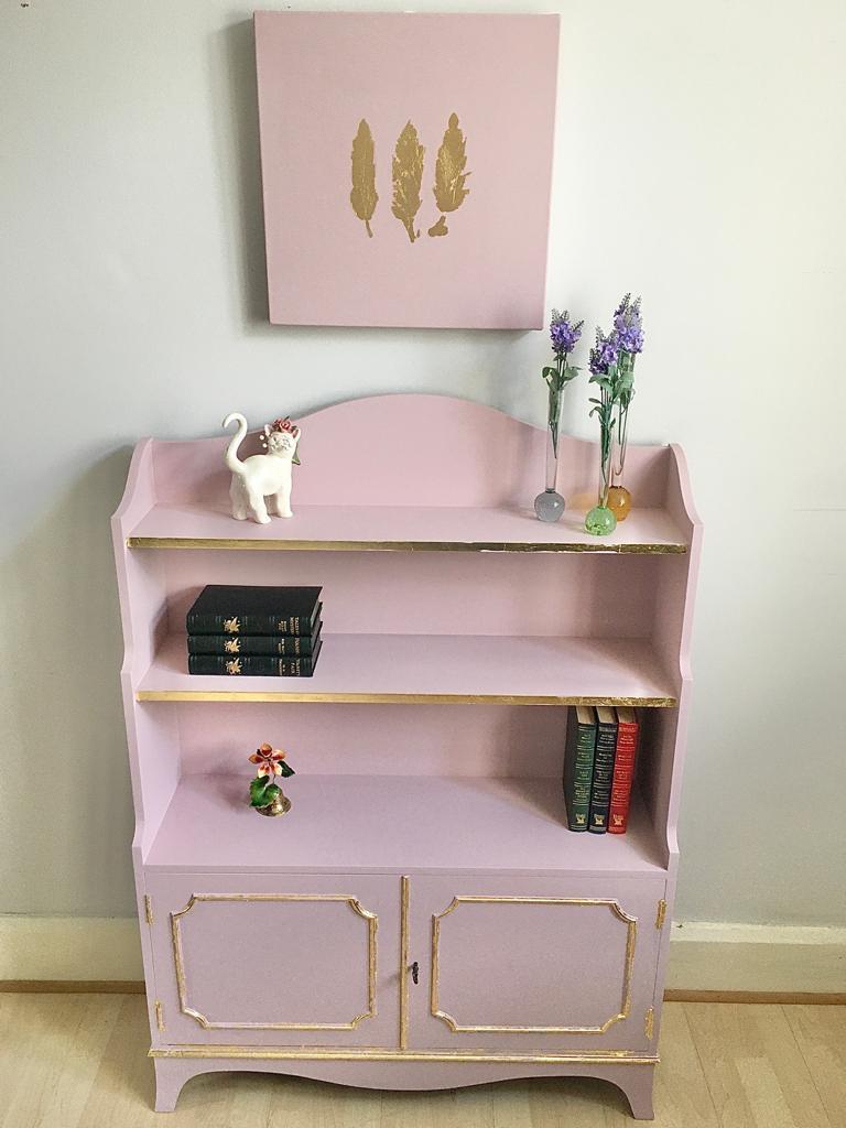 Vintage Bookcase Shelf's Cabinet