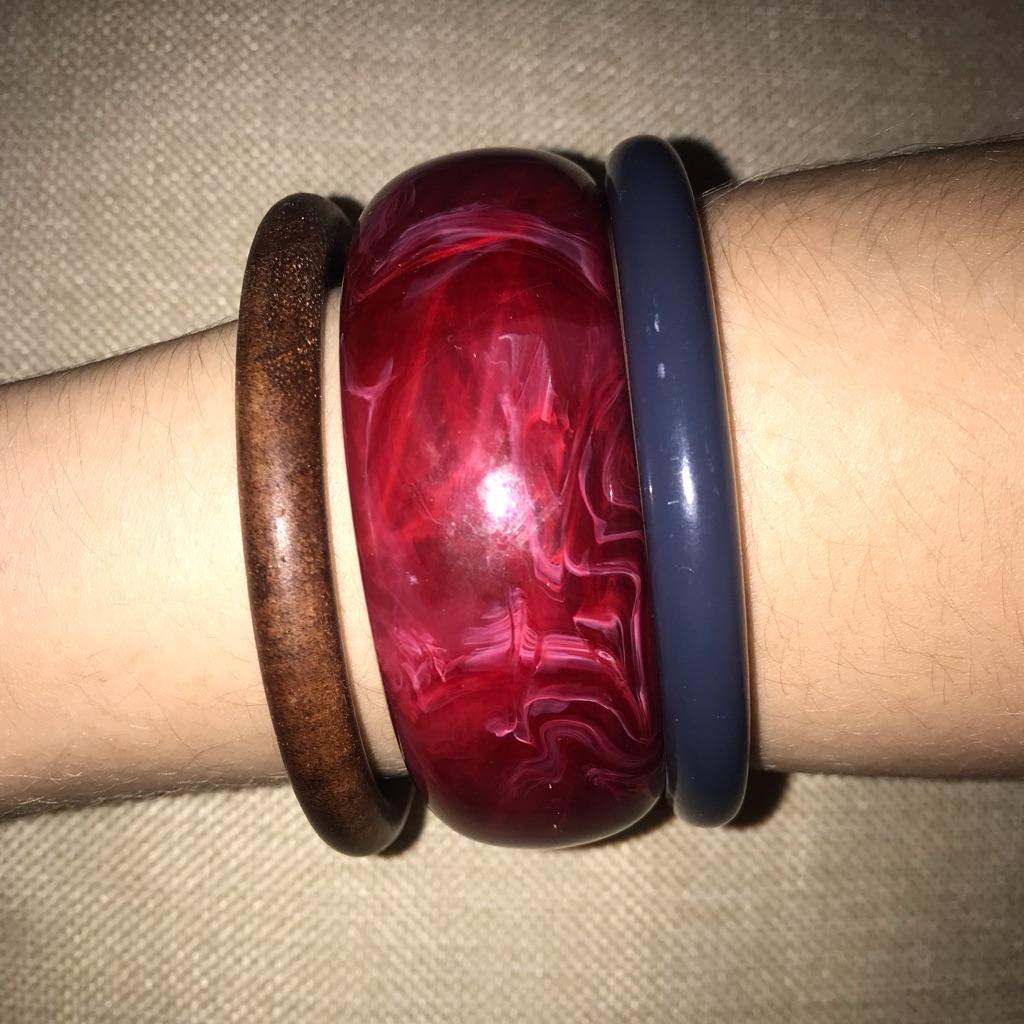 Bundle of 3 chunky bracelets