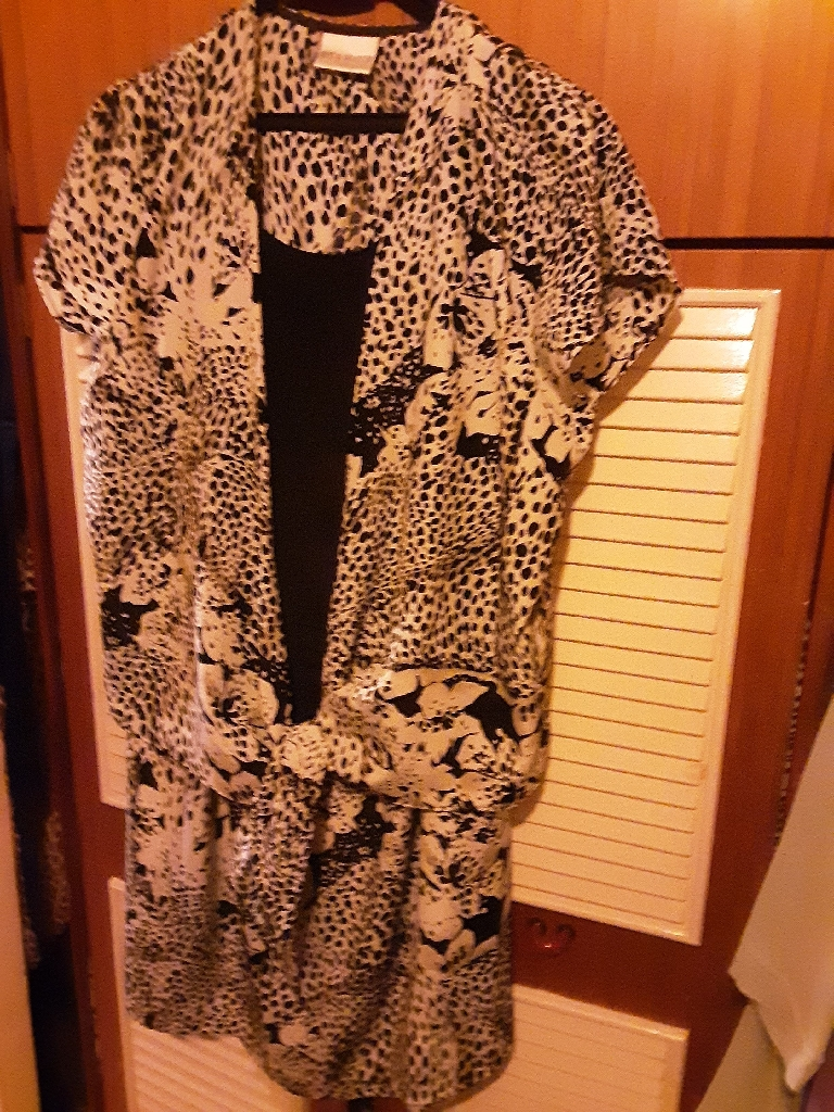 EVANS ANIMAL PRINT 2 PIECE SUIT, LIGHTWEIGHT SILKY - (REDUCED