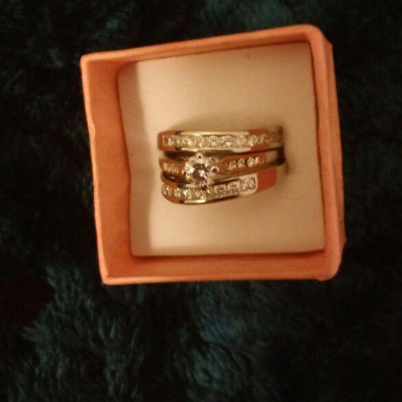 Rings anillos bañados en oro blanco