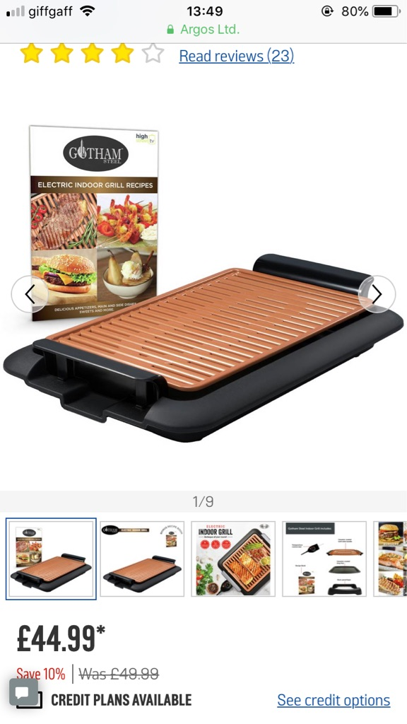 Gotham steel electric smokeless grill NEW