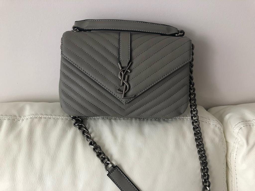 Grey YSL bag