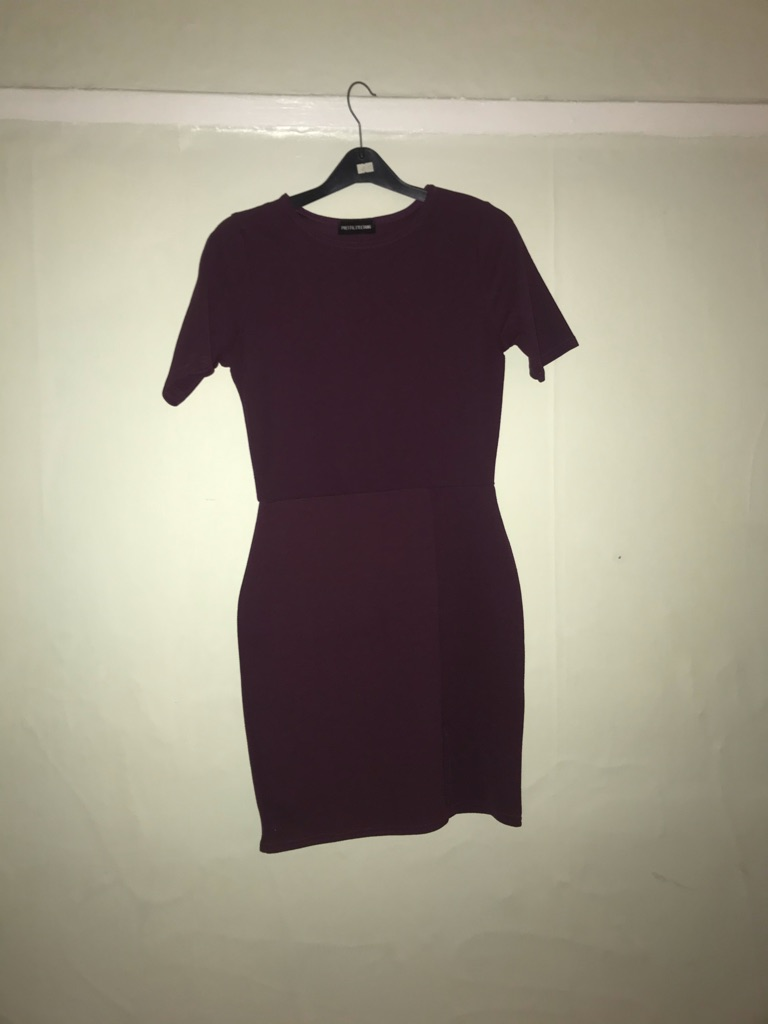 deep purple bodycon dress