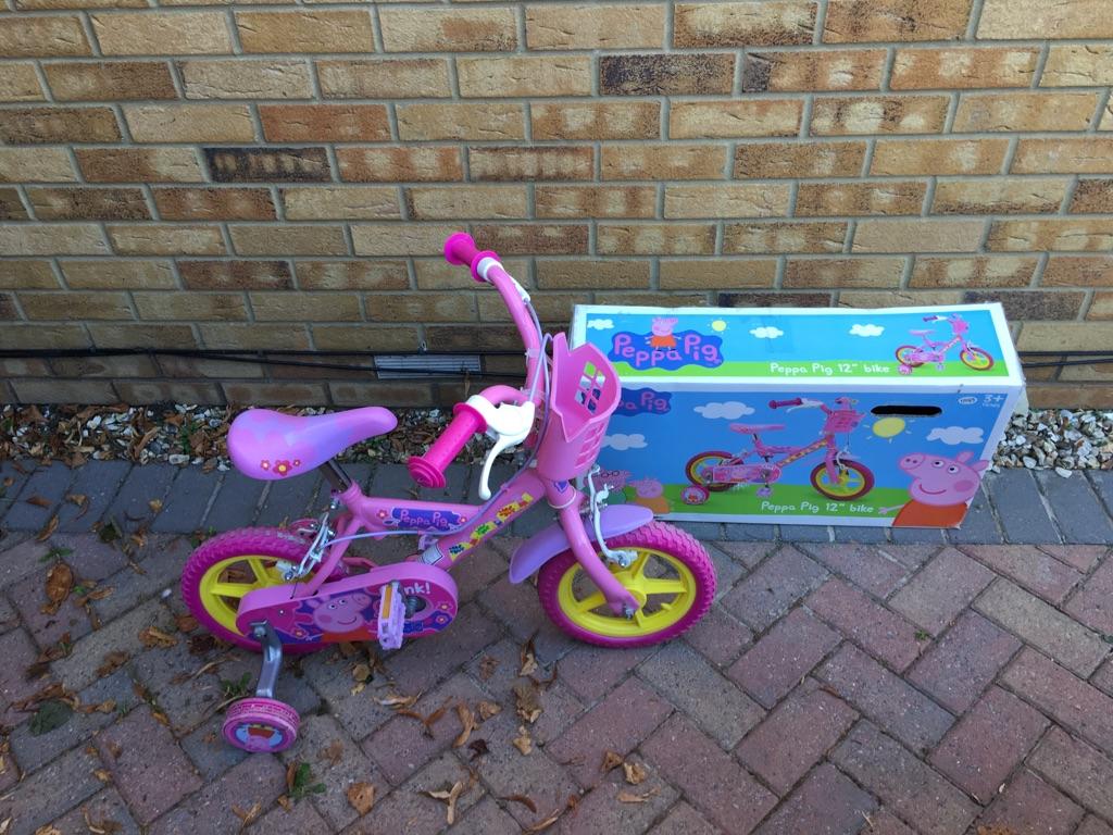 """Peppa Pig 12"""" girls bike"""