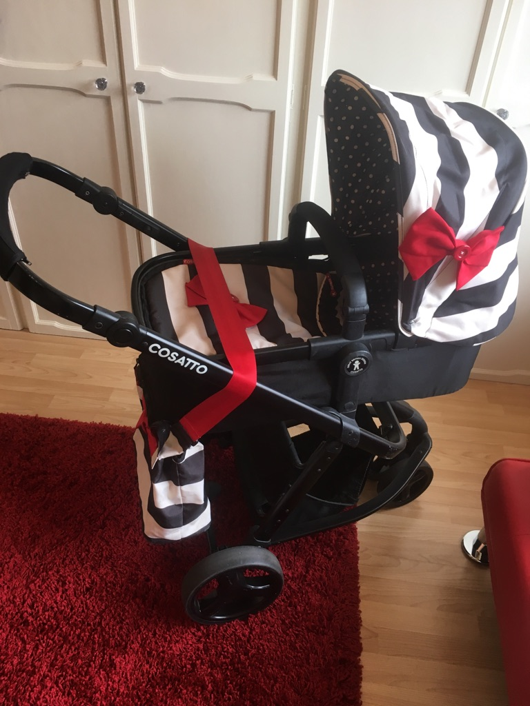 2 in 1 cosatto pushchair with changing bag