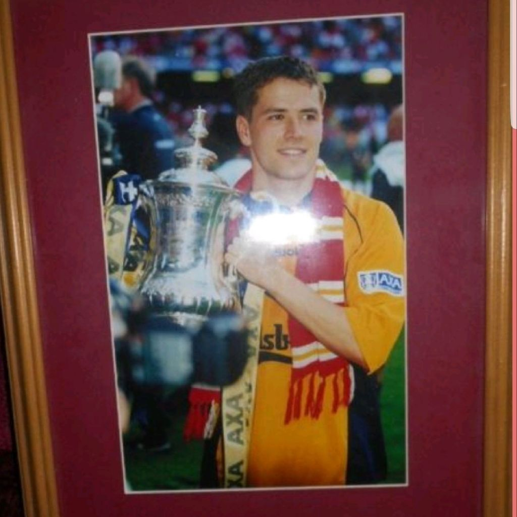 Michael Owen Liverpool FA Cup winner 2015 Framed Photo