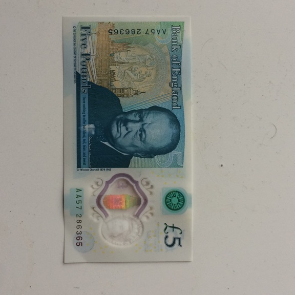 5 pounds note AA