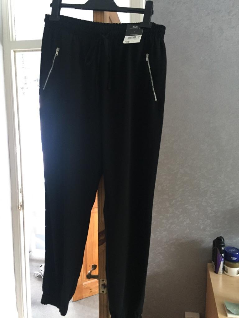 New black crepe pantaloon trs size 12
