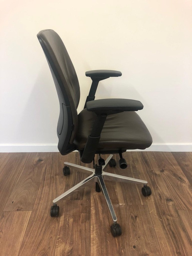 Steelcase Amia Chair- Brown Leather Task Chair