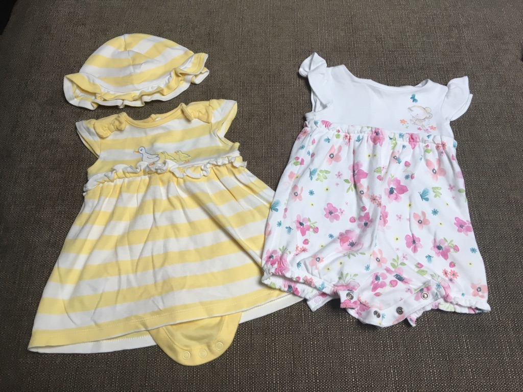 Baby girl 0-3 month outfit bundle