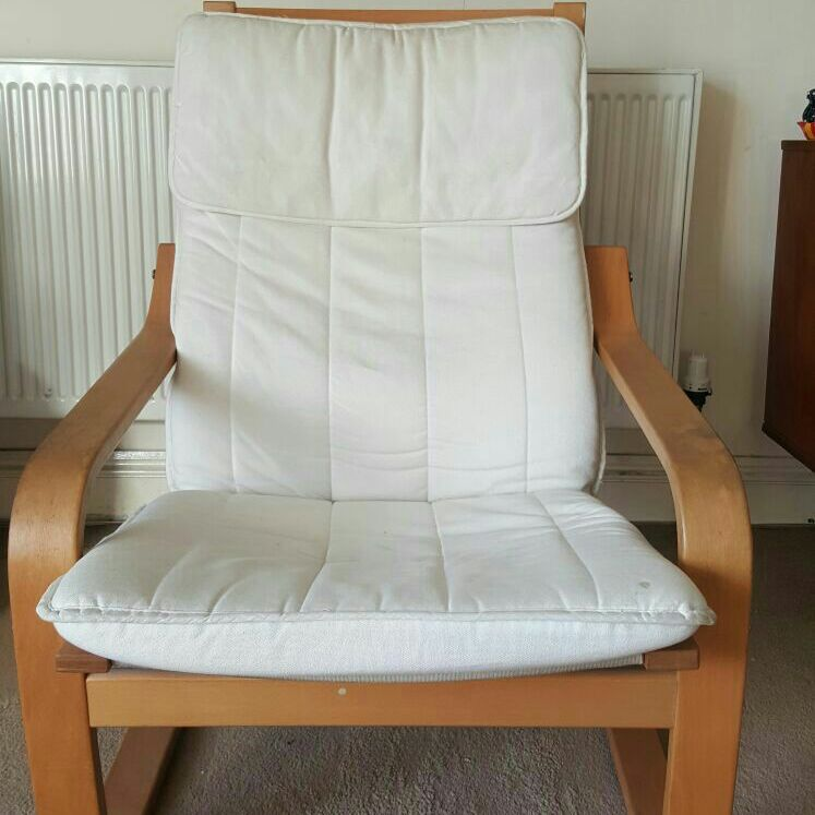 Swell Ikea Poang Chair And Footstool Ibusinesslaw Wood Chair Design Ideas Ibusinesslaworg