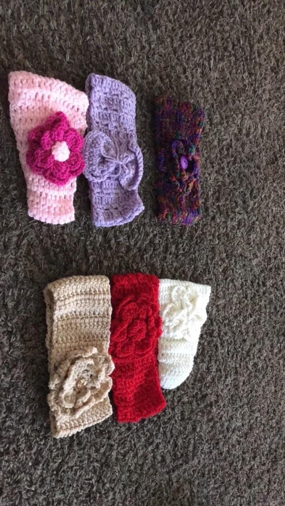 Crochet headbands and Crochet bonnet