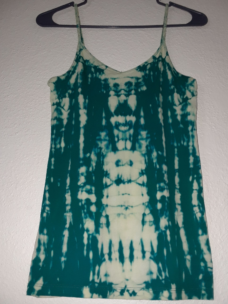 HAND DYED TIE-DYED WITH LOVE BY ME TEAL TANK TOP SIZE SMALL-MEDIUM $20 OBO