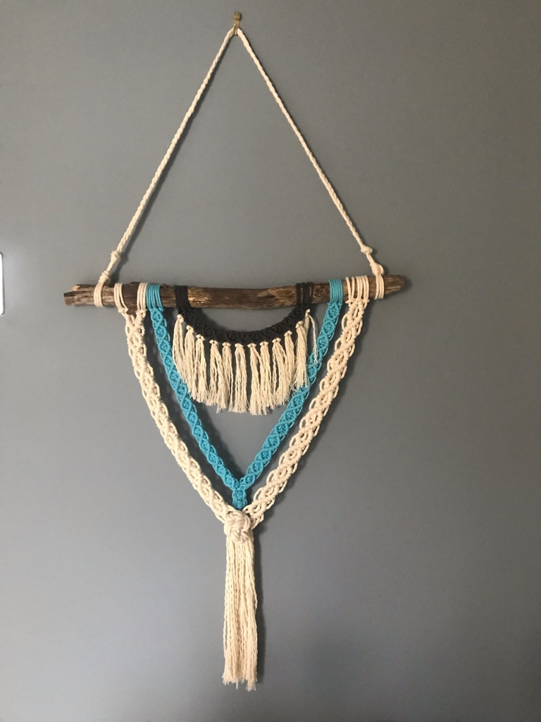 Wall hanging macrame with matching keychain