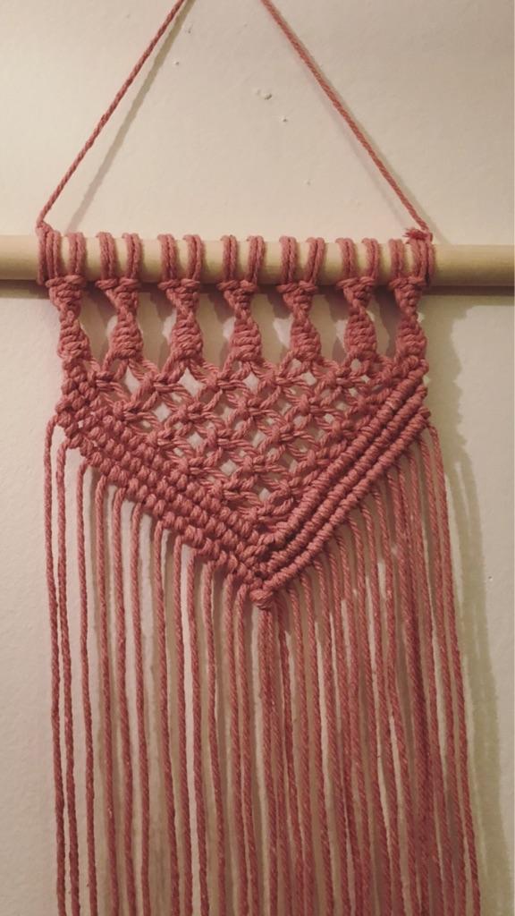Handmade pink Macrame