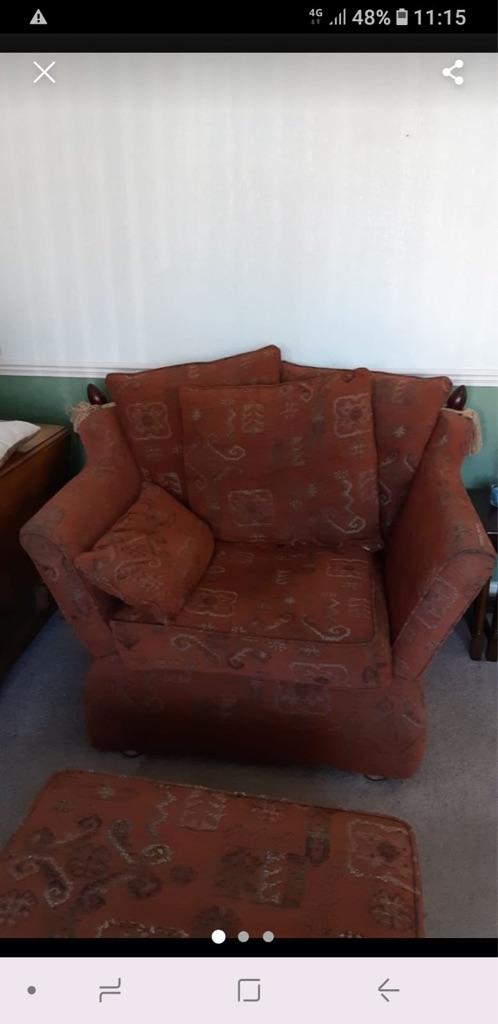 Sofa armchair & storage footstool