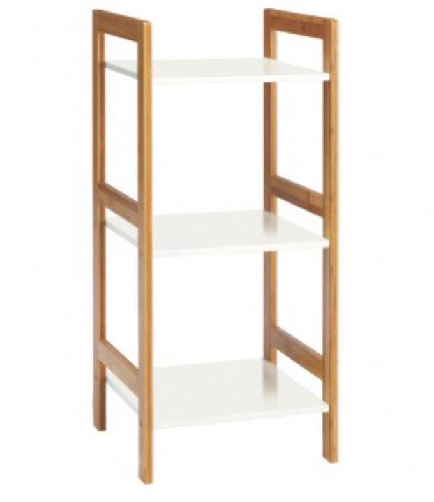 DREW Habitat bamboo & lacquer 3 shelf