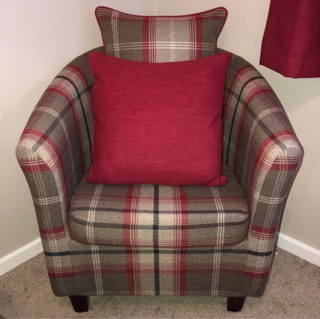 Balmoral Red Tub Chair.