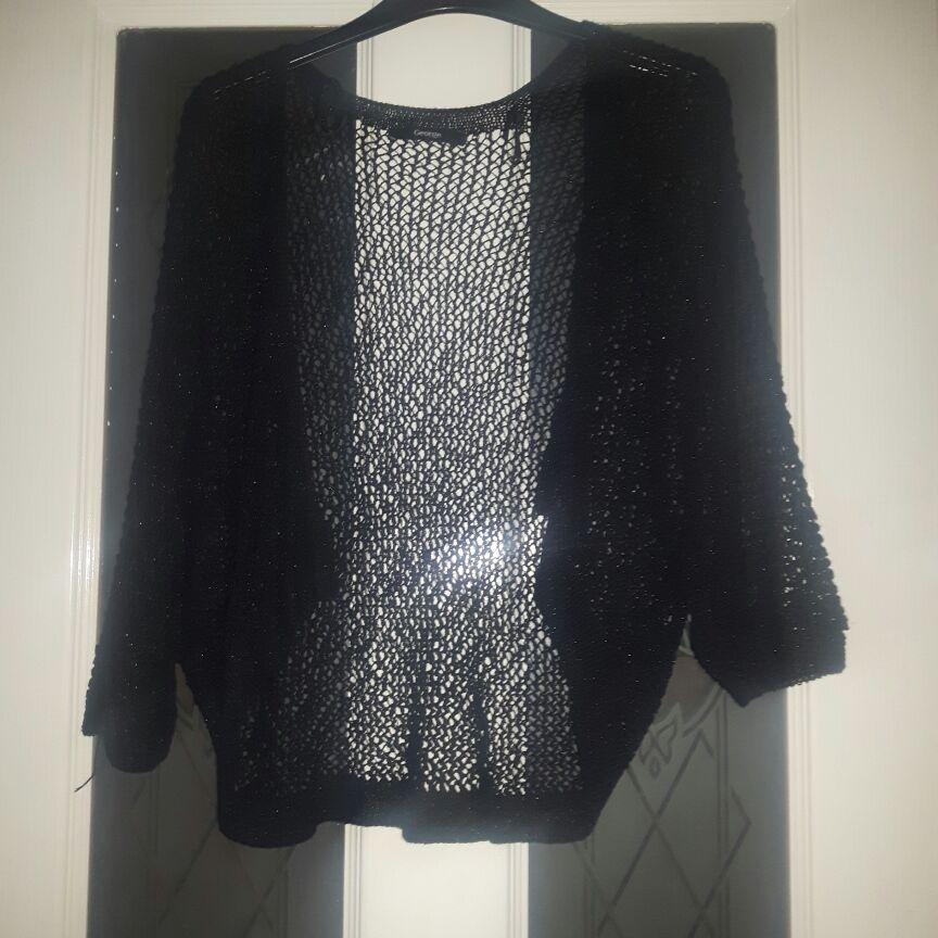 Ladies black mini cardigan