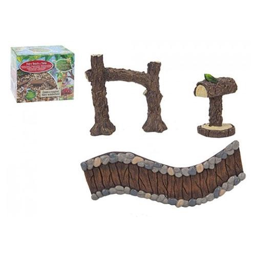 Secret fairy garden woodland path set