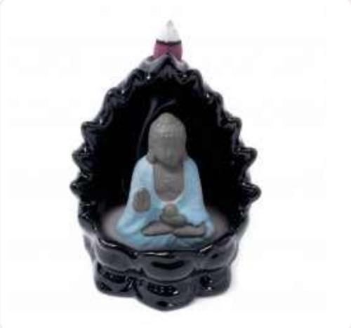 Back flow incense burner- Buddha and lights (flashing LED lights)