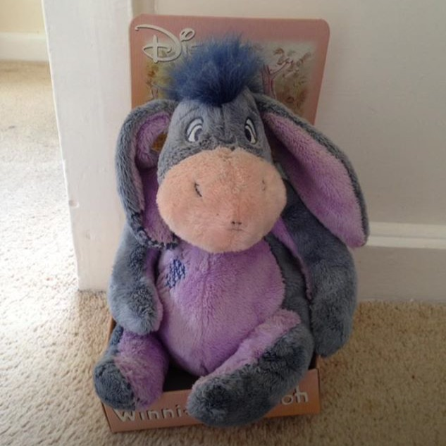Disney Eeyore Teddy In Box