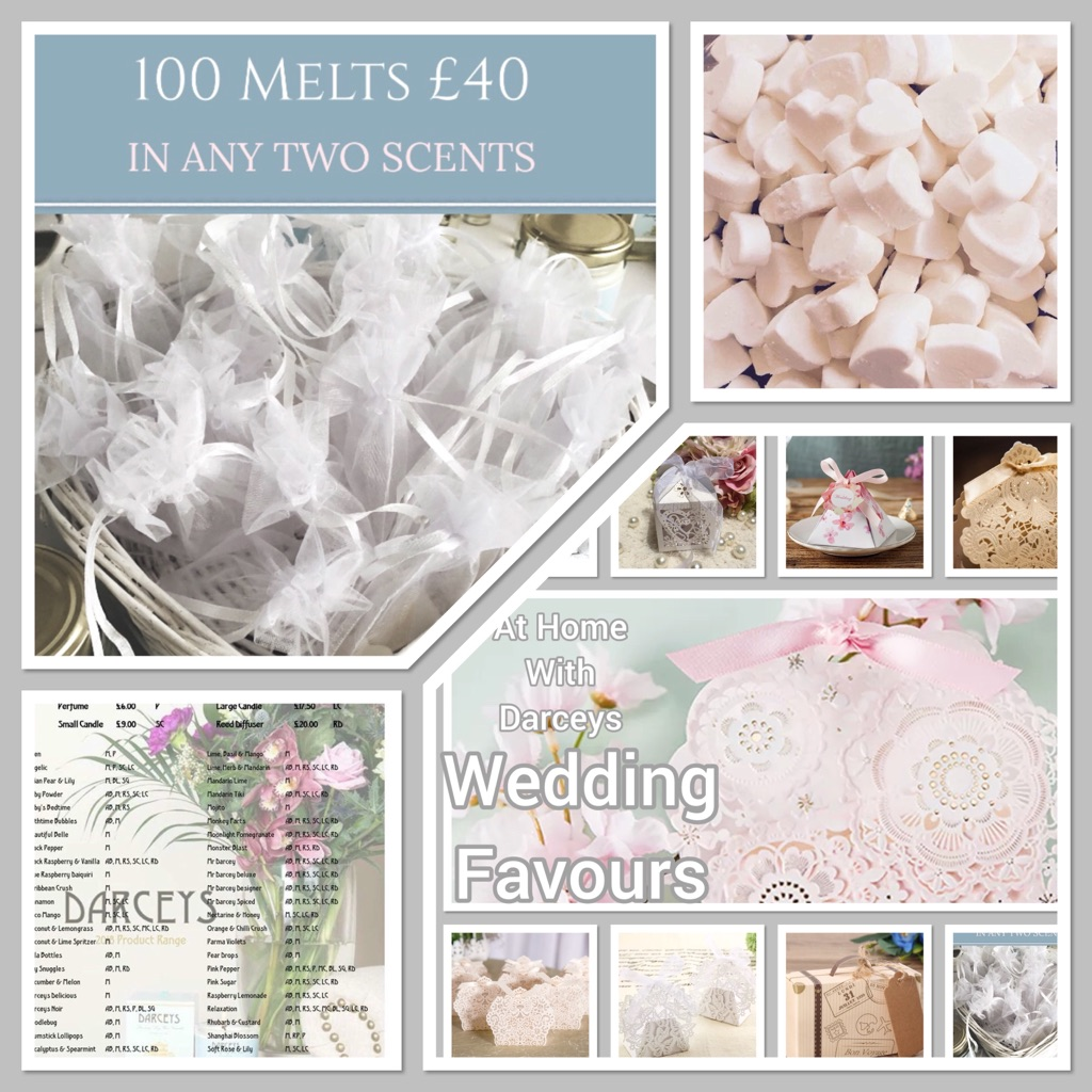 Wedding Favours- Natural Soy Wax Melts