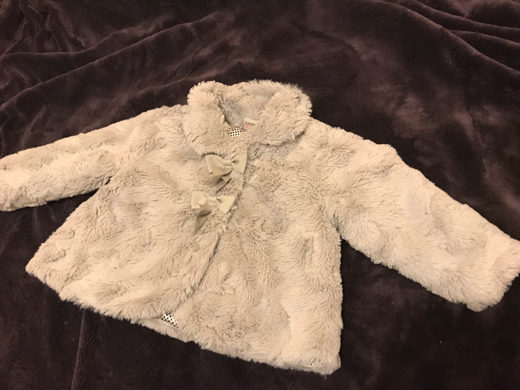 Thick Fur jacket 6-9 months