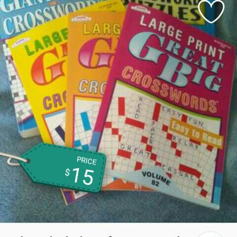 Set of crossword puzzle books