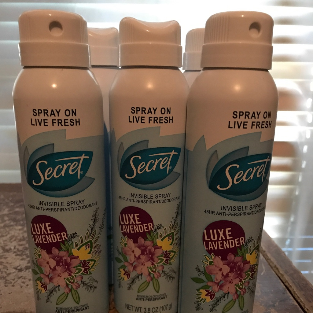 Secret deodorant spray lavender