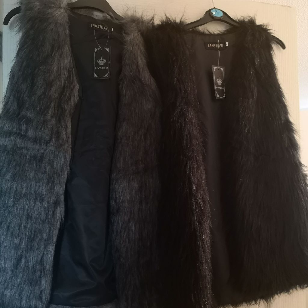Black and grey gilets