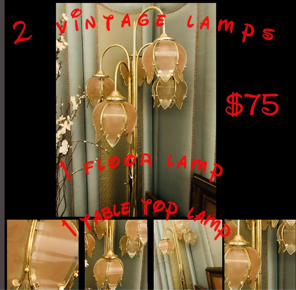 Vintage Lamps. 2pcs