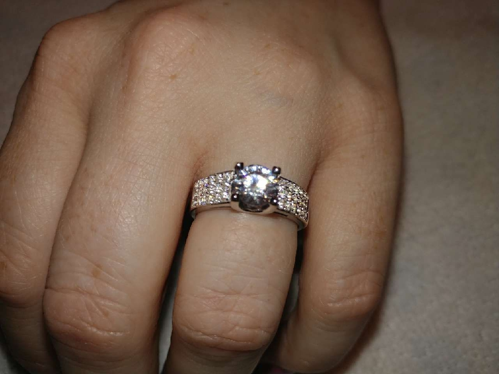 Charles and Colvard 2ct Moissanite Engagement Ring