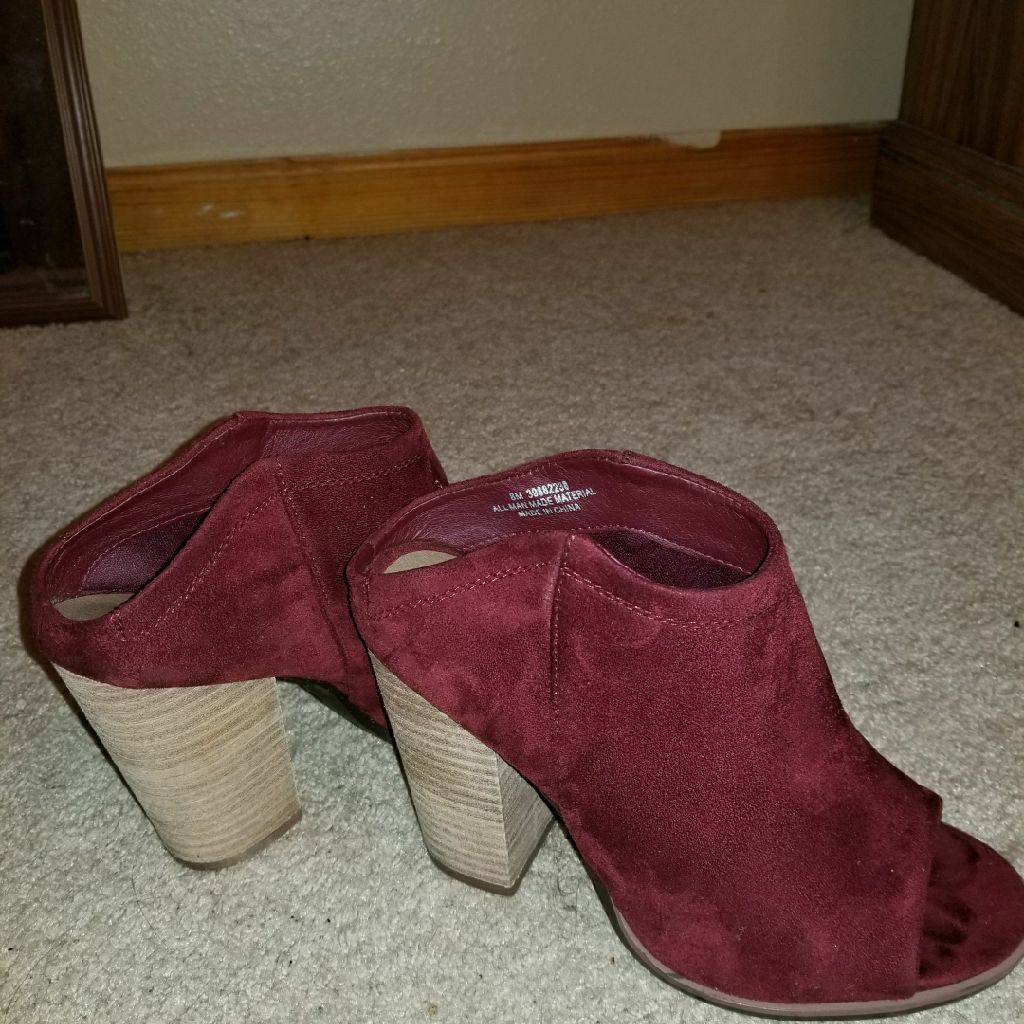 Cato Burgundy suede shoes